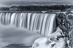 Closed for Winter (DFiveRed) Tags: cold winter niagara falls snow ice waterfall mist fog cliff long exposure canada new york ny river rapids clouds rocks bw black white sony a7iii canon 2470 28