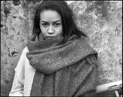 Kaisy (Davide Rizzo) Tags: good show xtol brunette scarf organic pentax 67 delta 400