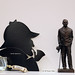 Sherlock Holmes paper cut-out brochure stand and statue of Sir Arthur Conan Doyle