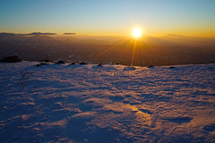 Morgenrot, From the Happo-One 9 (@yoshiki) Tags: winter snow sunrise mountain landscape sky japan