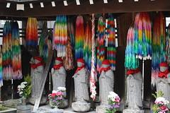Six Jizo (seiji2012) Tags: 六地蔵 折り鶴 大円寺 japan tokyo temple buddhism happyplanet asiafavorites