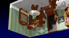The Mysterious Upside Down Room left (Oky - Space Ranger) Tags: lego ideas tower game virtual room mysterious upside down victorian living