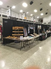 My setup at NuCon on Sunday (terrycollier209) Tags: display gadsdenalabama originalart artprints woodart nucon eyeballink artist artwork art terrycollier