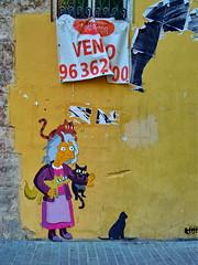Cat lover granny (gerard eder) Tags: world travel reise viajes europa europe españa spain spanien valencia städte stadtlandschaft street streetlife streetart elcarmen graffiti city ciudades cityscape cityview urban urbanlife urbanview outdoor oldcity