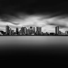Canary Wharf - Studio#5 (LorenzoBPhoto) Tags: monochrome landscape skyline cityscape blackandwhite fineart canon tamron water reflections longexposure london skyscraper buildings canary wharf river travel