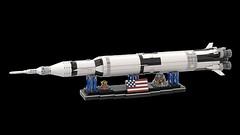 Saturn V Display (Knackepeter) Tags: lego moc saturn v nasa apollo space 21309 rebrickable bricklink lxf ldd