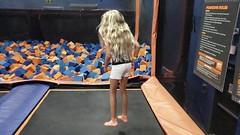 Violet Jumping Into A Foam Pit (Slow-Motion) (Joe Shlabotnik) Tags: 2018 august2018 video cameraphone galaxys9 justviolet skyzone slowmotion trampoline violet