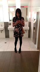 1.30am mirror selfie (~*Haley*~) Tags: girl floraldress floralskaterdress tights girlinpartydress woman selfie mirrorselfie