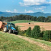 Lynn Waldroup baling hay