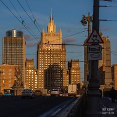 H18A6371 (Said Aminov) Tags: москва закат россия город moscow city sunset river bridge building march street sky ship
