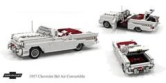 Chevrolet 1957 Bel Air Convertible (lego911) Tags: chevrolet chevy chev 1957 classic 1950s bel air belair convertible softtop gm general motors v8 chrome fins auto car moc model miniland lego lego911 ldd render cad povray afol usa america