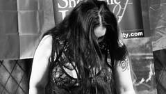 Event Horizon March 2019 022 (byronv2) Tags: music musician woman women makeup stage band krow krowandtheelectrictemple goth gothic punk electro blackandwhite blackwhite bw monochrome dance shorelineofinfinity eventhorizon edinburgh edimbourg scotland frankensteins georgeivbridge