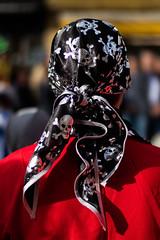 Man with pirate headscarf with skulls (Ivan Radic) Tags: man costume headscarf pirate mann bandana kopftuch pirat totenschädel scarf table skulls focalreducer speedbooster viltroxefeosm2 prime evil canon50mmf14usm mirrorless systemcamera systemkamera spiegellos canoneosm50 cscilc carnival austria österreich fasching karneval mödling 2019 faschingsumzug ilc csc ivanradic