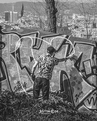 Caught in the act of graffiti in Barcelona, this was taken high up on the not far from the Olympic swimming pool. · · · · · #bnw_captures #graffitiartist #instagood #blackandwhiteonly #graffiti #streetart #bnw #graffitilife #blackandwhite_perfection #barc (justin.photo.coe) Tags: ifttt instagram caught act graffiti barcelona this was taken high up far from olympic swimming pool · bnwcaptures graffitiartist instagood blackandwhiteonly streetart bnw graffitilife blackandwhiteperfection barcelonaturisme blackandwhitephotography graffitiart urbanart graffitiporn igersbarcelona blackandwhitephoto barcelonacity photography graffitiwall bw barcelonalovers barcelonagram blackandwhite art barcelonainspira bcn catalunya justinphotocoe