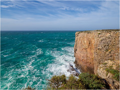 The wind blowed hard on Cape Sagres that day. (Luc V. de Zeeuw) Tags: clouds coast coastline ocean water waves windy sagres algarve portugal