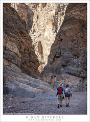 Two Hikers, Titus Canyon (G Dan Mitchell) Tags: two hikers descending narrows slot canyon titus desert deathvalley national park nature landscape hike trail outdoors travel california usa north america man woman deathvalleynationalpark