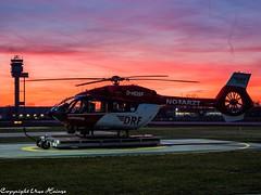 Sunrise at the HAJ Airport DRF Luftrettung HSD D-HDSF (U. Heinze) Tags: aircraft airlines airways airplane sunset sunrise haj hannoverlangenhagenairporthaj eddv sonnenuntergang sonnenaufgang himmel