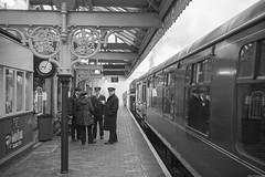 09:04  [Explored 11/04/2019] (aljones27) Tags: nnr northnorfolkrailway sheringham mist misty fog foggy weather bw monochrome blackandwhite steam engine train heritage
