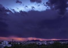 Stormy sunset (Paco CT) Tags: atardecer cielo ciudad montserrat mountain sky sunset city crepuscule crepusculo dusk ocaso puestadesol sundown twilight weather storm outdoors pacoct 2019 explore
