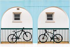 Bicycles on a balcony gallery (Luc V. de Zeeuw) Tags: balcony bicycles bike window sagres algarve portugal