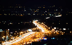 Traffic (Michal Zawolek) Tags: krakow kraków krakau cracow nightfall night nightshot cityatnight lights light traffic city cityscape cityscapes street highway highcontrast contrast