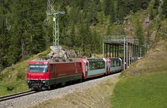 Rhb Ge 4/4 III 648 Bergun 12/08/2015 (stefano.trionfini) Tags: train treni bahn zug rhb ge44iii glacier albula grigioni svizzera suisse retiche