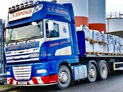 DAF XF - Aberdeen Harbour Scotland - 21/12/2018 (DanoAberdeen) Tags: x99cfj scania danoaberdeen truckfest amateur candid v12 dafxf105 haulier flatbed haulage transport cfjennings xf daf 105460 dafxf