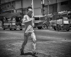 Running Man (Beegee49) Tags: street man running monochrome blackandwhite bw sony a6000 bacolod city philippines happyplanet asiafavorites