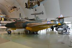 DG202  Gloster F9/40 Meteor  RAF Hendon 03-05-15 (MarkP51) Tags: dg202 gloster f940 meteor rafmuseum hendon london england preserved military ww2 warbird aircraft airplane plane image markp51 nikon d7100