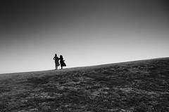 On a Hill (Leon Sammartino) Tags: hill girls mono monochrome muslim point ormond melbourne australia grass highpass