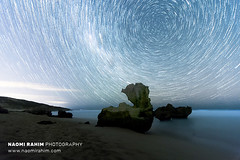 Bunny Rock (Naomi Rahim (thanks for 4 million visits)) Tags: melbourne victoria australia 2019 blairgowrie backbeach beach travel travelphotography landscape astro astrophotography night luna sky nikon nikond7200 wanderlust stars longexposure blue milkyway rockformation water sea ocean nature startrails lighttrails 1116mm