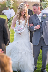 Jen & Brad Tie The Knot (Funtasian) Tags: wedding bride outdoors beatiful florwers brooch bouquet groom flowers flowergirl groomsmen maidofhonor bridesmaid love kiss ido white dress
