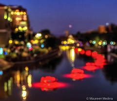 City of Light (Maureen Medina) Tags: maureenmedina artizenimages scottsdale night bokeh lights nighttime waterfront abstract colorful cars street slowmotion city