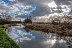 By the canal (Peter Leigh50) Tags: landscape canal water reflection sky skyscape cloud towpath fujifilm fuji xt2