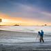 Photographer at Work (David Swindler (ActionPhotoTours.com)) Tags: longexposure olympicnationalpark washington beach coast olympic photographer sunrise waves