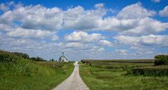 Shiloh Church, Huntsville, IL (Bob G. Bell) Tags: shilohchurch huntsville il abandoned clouds sky church bobbell canon corn farmcrop road gravelroad