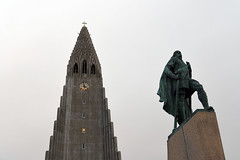 Church of Hallgrímur (Hallgrímskirkja)and the statue of of Leifur Eiríksson, Reykjavik  -  (Selected by SHUTTERSTOCK) (DESPITE STRAIGHT LINES) Tags: nikon24120mmf4 nikon24120mmf4gedvr nikon d850 nikond850 nikkor24120mm nikon24120mm nikongp1 paulwilliams despitestraightlines flickr gettyimages morning getty gettyimagesesp despitestraightlinesatgettyimages iceland reykjavik reykjavikiceland reykjavictown city hallgrímskirkja hallgrímskirkjachurch hallgrímskirkjareykjavik skólavörðurholt skólavörðurholtreykjavik helgasonparishofreykjavík guðjónsamúelsson statue lutheranchurchoficeland leifureiríksson leifureiríkssonleiferikksson eiríkrþorvaldsson ericthered alexanderstirlingcalder ilobsterit shutterstock