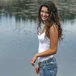 Girl on the pond thumbnail