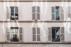 Hello, Paris. (fehgnee) Tags: paris parigi architettura nikon nikond3100 nikkor nikkor18105 nikonisti nofilter window windows finestre finestra reflections light lights girl girls architecture architectureporn archiporn archilovers architect