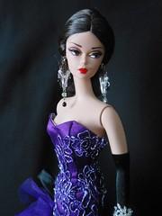Dulci wearing Aphrodai (ksavoie1213) Tags: dulcissima 2014silkstonecollection barbie silkstonebarbie robertbest mattel aphrodai pheonix132001 purple gowns ballgowns blackbackground arinafashions