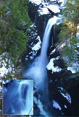 Elk Falls in Winter with inset (1) (Goose Spittin' Image Photography) Tags: waterfall campbellriver winter snow collage feb 2019 bc vancouverisland