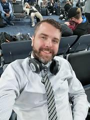 Ready to fly home (Toni Kaarttinen) Tags: usa unitedstates florida wpb america lakeworth lw palmbeachcounty man guy beard bear selfie hairy scruff jbl mia tie