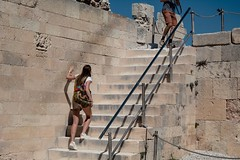 Nude photography (giorgosAnk) Tags: nude nudecolours beige people photography streetphotography acropolis stairs steps ancient age aged cementblocks blocks hill couple travel walk tourism tourist boyfriend girlfriend move greece greekmythology athens outdoors girl woman young