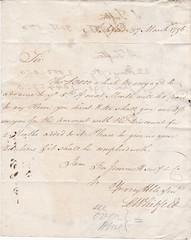 ASH2-032 Loan document, L Whitfield, Ashford, 27 March 1796 (audinary_music) Tags: ashford kent