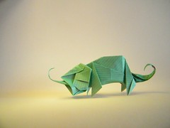 Chameleon - Hiroaki Kobayashi (Rui.Roda) Tags: origami papiroflexia papierfalten camaléon camaleão caméléon chameleon hiroaki kobayashi