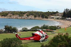 Horseshoe Bay (adelaidefire) Tags: horseshoe bay fleurieu peninsula south australia helicopter bell 412er bell412er port elliot country fire service australian cfs sacfs sa state emergency ses coast surf life saving association slsa ambulance saas medstar mac motor accident commission retrieval vhvas