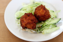 Shrimp balls, Neerob Restaurant, Parkchester, Bronx (Eating In Translation) Tags: bronx parkchester