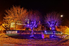 Lunegarde illuminations (Sébastien Vermande (Only the Weekend)) Tags: canon100d france midipyrénées lot hiver winter nightscape longexposure night nuit sky ciel nightsky arbres trees stars étoiles village lumières lights couleurs colors endofyearcelebrations sigmaart1835mmf18dchsm vermande