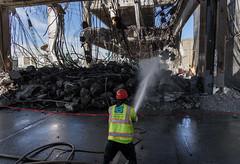 Putting a damper on demolition dust (WSDOT) Tags: seattle gp construction wsdot alaskan way viaduct replacement demolition 2019