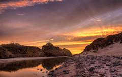 The path to the sea (Gio_guarda_le_stelle) Tags: sea seascape sunset ocean pfeiffer california water gold nature peace seaside pacific beauty magic 4 i sunbeams